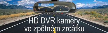 HD DVR kamery ve zpětném zrcátku