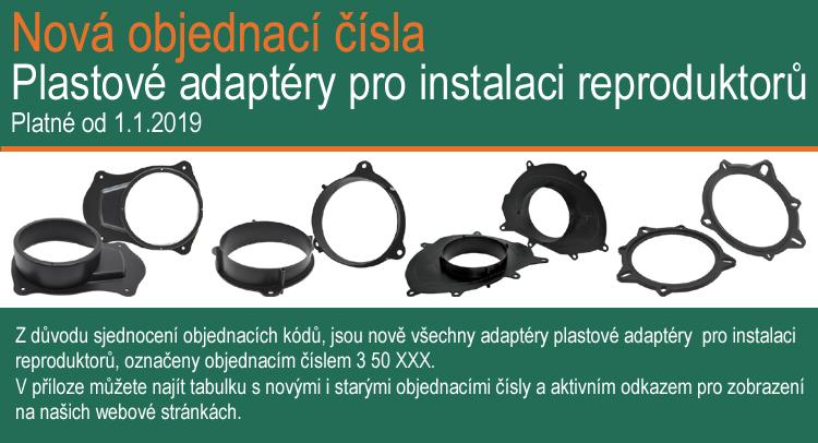 Nová objednací čísla pro adaptéry reproduktorů