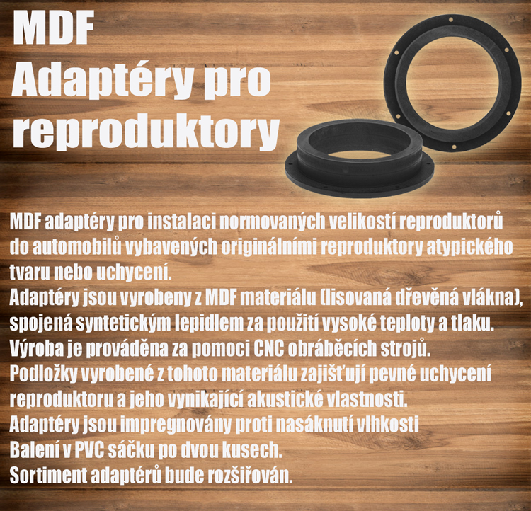 MDF adaptéry pro reproduktory