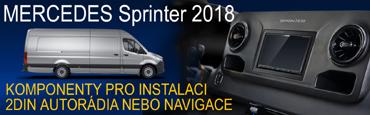 MB Sprinter 18- komponenty pro instalaci navigací