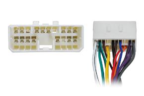 Adaptér pro ovládání na volantu SsangYong - detail konektorů