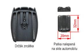 EV2R-043LAD HD DVR přední+zadní kamera - patka na skle a držák na zrcátku