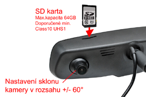 EV2R-043LAD HD DVR přední+zadní kamera