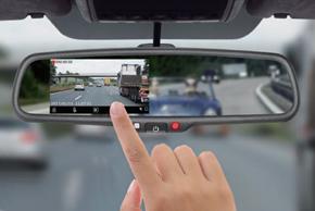 EV2R-043LAD HD DVR přední+zadní kamera - dotykové ovládání