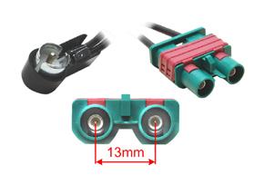 Anténní adaptér VOLVO - ISO (295785) - Detail konektoru