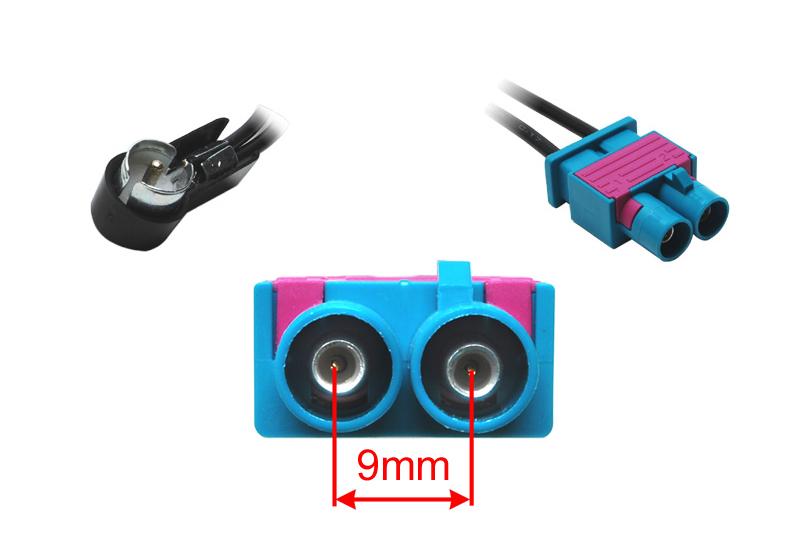 Anténní adaptér dvojitá FAKRA - ISO