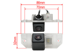 CCD parkovací kamera Ford Focus / C-max - rozměry