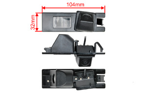 CCD parkovací kamera Opel / Renault - rozměry kamery