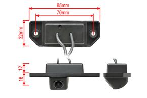 CCD parkovací kamera Ford Mondeo (00-07) - rozměry kamery