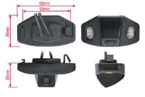 CCD parkovací kamera Honda Accord (08-11) - rozměry kamery