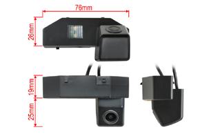 Parkovací kamera Mazda 6 (08->) (221935)  - rozměry kamery