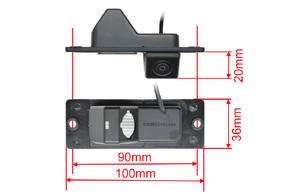 CCD parkovací kamera Mitsubishi Pajero - rozměry