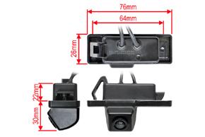 CCD parkovací kamera Nissan Qashqai, X-Trail - rozměry