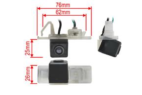 CCD parkovací kamera Peugeot / Citroen - rozměry