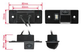 CCD parkovací kamera Škoda / VW - rozměry