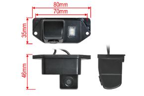 CCD parkovací kamera Mitsubishi Lancer - rozměry kamery