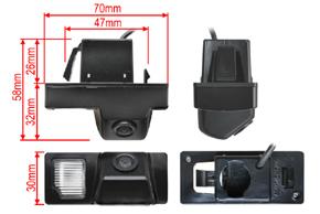 CCD parkovací kamera Toyota Land Cruiser - rozměry kamery