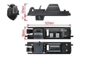 CCD parkovací kamera Toyota RAV4 - rozměry kamery