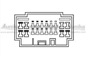 Adaptér pro ovládání na volantu HONDA Civic - detail konektoru