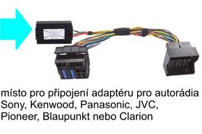 Adaptér pro ovládání na volantu OPEL - zapojení konektoru