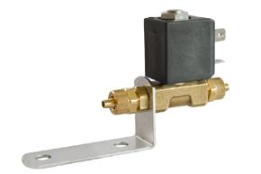 Solenoidový ventil typ: 130 /24V - umístění na držáku