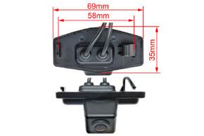 CCD parkovací kamera Honda Civic - rozměry kamery