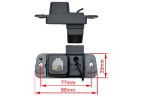 CCD parkovací kamera Ssang Yong Actyon - rozměry