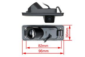 CCD parkovací kamera Subaru Tribeca (221965) - rozměry