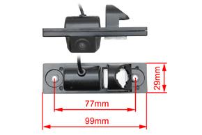CCD parkovací kamera Chevrolet - rozměry