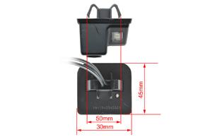CCD parkovací kamera Mazda 6 / CX-7 - rozměry kamery