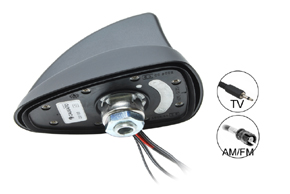 SHARK 2 BI-TV AM/FM+TV anténa - deatil konektorů