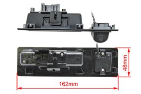 CCD parkovací kamera BMW 5 (10->) - rozměry