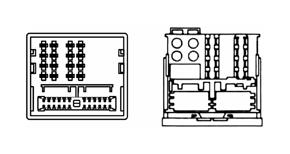 Adaptér pro HF sadu VW / Škoda - detail konektoru