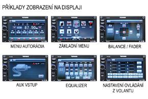 TELEFUNKEN TF-AS9080 - příklady zobrazení displeje