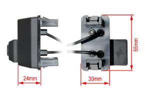 221976 CCD parkovací kamera Toyota Verso (10->) - rozměry