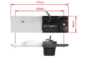 221956 CCD parkovací kamera Renault Koleos - rozměry
