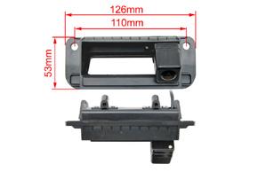221940 CCD parkovací kamera MERCEDES C / E - rozměry