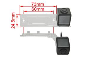 221987 CCD parkovací kamera VW Passat B5 / Transporter... - rozměry
