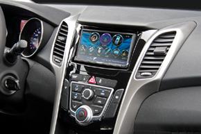 Adaptér 2DIN rádia Hyundai i30 II. (12->) umístění v automobilu