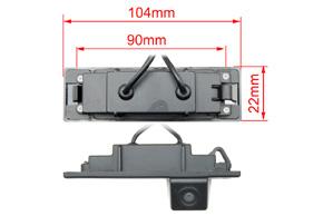 CCD parkovací kamera BMW 1 - rozměry