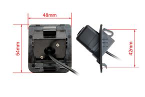 CCD parkovací kamera Mercedes S-class - rozměry