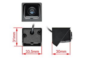 CCD parkovací kamera Ssang Yong Korando (11->) - rozměry