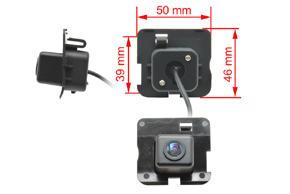 CCD parkovací kamera Mercedes R-class - rozměry