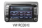 VW autorádio RCD510