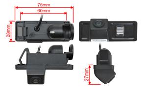 CCD parkovací kamera Citroen C4 - rozměry