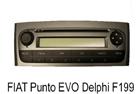 Fiat Punto Evo autorádio Delphi F199