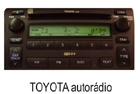 Toyota autorádio 4