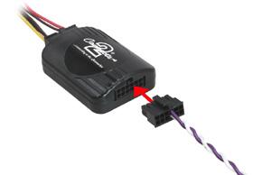 Propojovací kabel pro autorádia BLAUPUNKT (->10) - místo připojení adaptéru