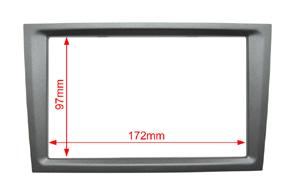 Instalační sada 2DIN Opel - rozměry