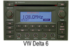 VW autorádio Delta6